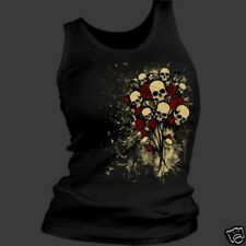 Ladies Skull Bouquet Tank Top Shirt  New