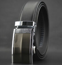 Fashion Men's Dress Auto Lock Buckle Luxury Genuine Leather Belt Waist Strap New