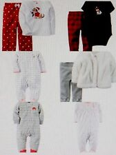 CARTERS Christmas PAJAMAS Polka Dot Crab 2pc Polar Bear Flamingo Ballet NB 3m 7