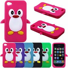 Penguin Seabird Silicone 3D Rubber Gel Soft Case Cover For Apple iPhone 4S 4 4G