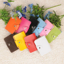 New 24 Card Slot Credit ID Business Cards Holder Pocket Synthetic Leather Wallet