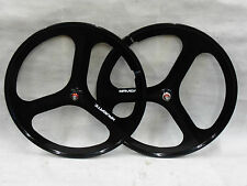 3 Spoke 700c Fixie / Single Speed Road Bike Wheel Front or rear Black !