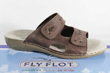 Fly Flot Ladies Slippers Slippers House Shoes Genuine leather brown NEW