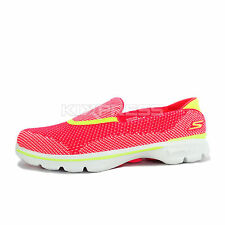Skechers Go Walk 3 Nite Owl Series [13849HPLM] Walking Slip-On Hot Pink/Lime
