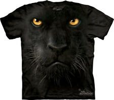 The Mountain Black Panther Face Adult T-Shirt PRINT IN USA MT34