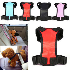New Pet Dog Cat Adjustable Multifunction Mesh Nylon Safety Car Seat Belt Harness