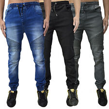 New Mens Loyalty & Faith Skinny Jogger Jeans Designer Cuffed Stretch Denim Pants