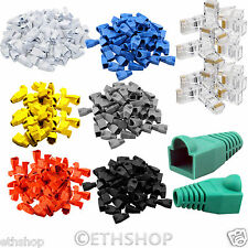 RJ45 Cat5 Cat5e Etheret Network Cable LAN Crimp Plugs Ends Connectors Boots Lots