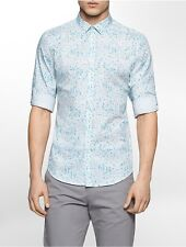 calvin klein mens slim fit granite print shirt