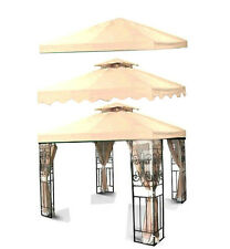 New 10'x10 Gazebo Canopy Top Cover Replacement Outdoor Garden Patio Beige