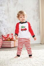 Mud Pie Holiday Best Collection Going for the Tree Boys Christmas Pajamas Car
