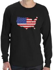 USA American Flag 4th of July Patriotic Long Sleeve T-Shirt Independence Day