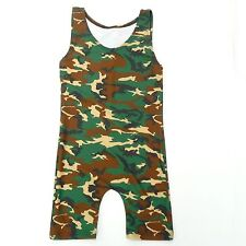 NEW YOUTH &ADULT CAMOUFLAGE WRESTLING SINGLET