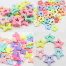 Mixed color Acrylic Flower butterfly loose Spacer Beads Charms Findings 50Pcs