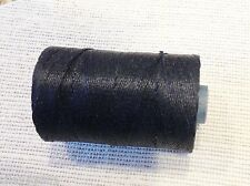 Waxed Irish Linen Crawford Bead Cord BLACK SPOOL
