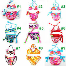 2pcs Kids Baby Girls Tankini Bikini Set Swimwear Swimsuit Bathing Suit Beachwear