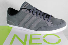 Adidas Lace up Sneakers Low Shoes Trainers CAFLAIRE Leather gray NEW