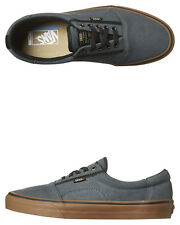 New Vans Skate Men's Rowley Solos Leather Shoe Suede Stretch Mens Shoes Black