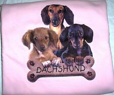 """Dachshund Pups"" Gildan (Lt. Pink) Cotton Blend  Crew Neck Sweatshirt"