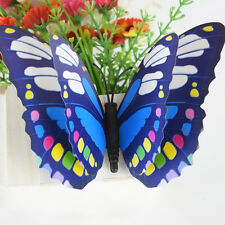 Double-deck 3D Colorful Simulation Butterfly Waterproof Home Decal Wall Sticker