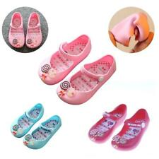 Kids Girls Lolly Shoes Soft Sandals Jelly Shoes Ankle Strap Summer Rain Boot