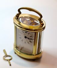 French Oval Carriage Clock c1910 Eight Day Timepiece Serviced