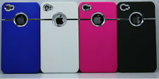Lot Of 4 Wholesale Hard Deluxe Luxury Chrome Case For iPhone 4 4s +Free Gifts