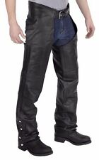 Motorcycle Leather Chaps Pants biker harley style