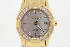 Ladies Citizen EW1822-52D Eco-Drive Regent Gold-Tone Stainless Diamond Watch