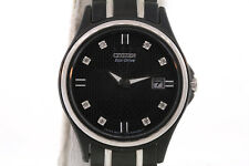 Ladies Citizen GA1034-57G Eco-Drive Black Stainless Steel Diamond Accented Watch