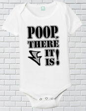 Poop There It Is One Piece Funny Baby Shirt Infant Poop T-Shirt Newborn Boys 6