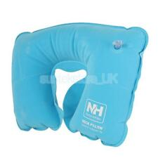Inflatable Flocked Fabric Neck U Pillow for Traveling Camping