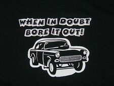 Hot Rod Chevy Gasser T-shirt tunnel ram vintage style parts men's black S-3x
