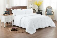 NEW Bed In A Bag White Comforter Set 3 Pc Reversible Solid/ Emboss Striped