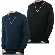 Art Gallery 60's Mod Cable Knit Faux V-Neck Turtle Neck Jumper