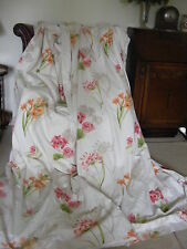 BEAUTIFUL BESPOKE COUNTRY HOUSE HUGE FLORAL LINED CURTAINS