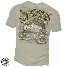 Fishing T-Shirt. Vintage Bass Tee - Wicked Fish