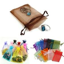 50/100PCS New Stylish Organza Jewelry Wedding Gift Candy Pouch Bags 7x9cm
