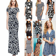 Sexy Womens Floral Printed Bodycon Dress Party Evening Club Cocktail Beach Maxi