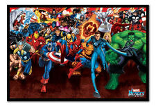 Marvel Heroes Attack Magnetic Notice Board Includes Magnets