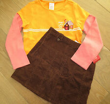 NWT Gymboree Sugar & Spice Gingerbread Girl Vintage Top or Brown Skirt sz 5