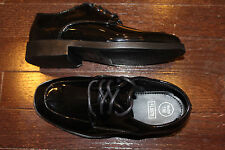 FLOW FL007B Boys YOUTH Tuxedo Dress Formal Shoes Black Patent 1 2 3 4 5 6 M