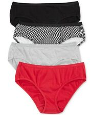 NEW Hanes Platinum Cotton Hipster 4 & 5 pack panties, Assorted Colors & Sizes