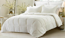 New Ivory 3pc Comforter Set Reversible Solid / Emboss Striped