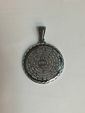Our Father engrave stainless steel pendant religious lords prayer English