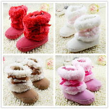 Baby Infant Warm Snow Boots Toddler Child Boys Girls Winter Fur Crib Shoes 0-18M