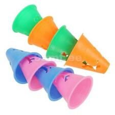 "5 WITCHES HAT 3"" SLALOM MARKER CONES SKATE football SOCCER DRILL TRAINING SPORTS"