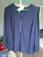 NEW LADIES MICHAEL KORS XS OR SMALL NEW NAVY COVER UP TUNIC TOP MSRP 113.00