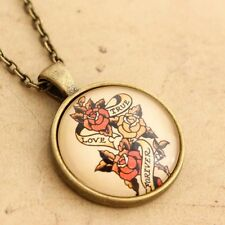 Sailor Jerry Handmade Tattoo Necklace - Rockabilly True Love Forever  Pin-up