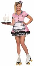 Trixie Sue 50's Car Sock Hop Diner Waitress Adult Womens Costume NEW